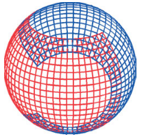 "The ""Yin-Yang"", or ""tennis ball"" grid, which may be used in future climate simulations"
