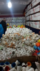 Selling Crockery at Numaish