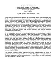 Postgraduate Conference outline