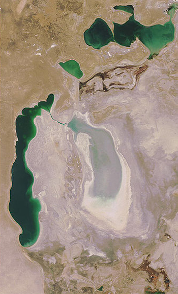 Aral Sea, 2008 / Changing Planet.org